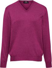 V-ringad tröja modell Marco i 100% ren ny ull från Peter Hahn cerise