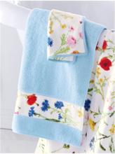 Handtuch, ca. 50x100cm Feiler blau