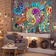 Bunte abstrakte Sonnengott Taiji Diagramm Wandteppiche Strandtuch Yoga Handtuch Wohnzimmer Kunst Dekor