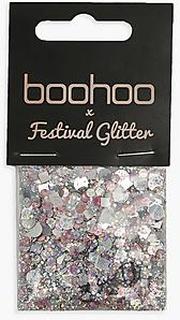 Boohoo Holographic Silver Glitter Bag