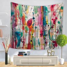 Aquarell abstrakter Druck Wandbehang Wandteppiche Home Wohnzimmer Art Decor Tischdecke