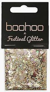 Boohoo Rose Gold Glitter Bag
