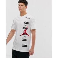 Nike Jordan - Vit t-shirt med stort tryck - Vit