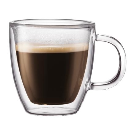 Bodum - BISTRO Dobbeltvægget Espressokop, 15 cl, 2 Stk