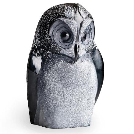 Målerås Glasbruk - Safari Ugle, Sort