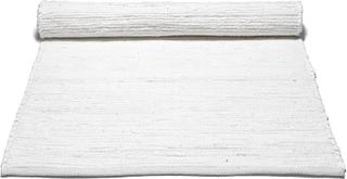 Rug Solid - Cotton Tæppe Med Kant 140x200, Hvid