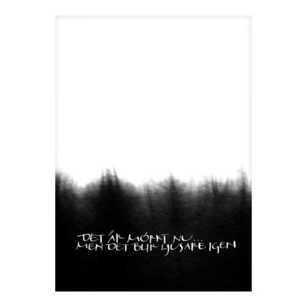 Ylva Skarp - Det Är Mörkt Nu Postkort