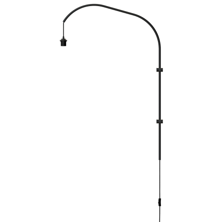 Vita - Willow Single Væglampe, Sort