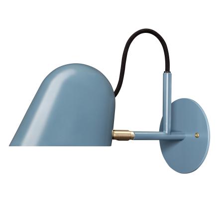 Örsjö Belysning - Streck Væglampe LED, Blå/Messing