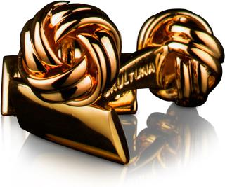 Skultuna - The Knot Manchetknapper, Guld