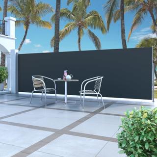 vidaXL Uttrekkbar sidemarkise 180 x 500 cm svart