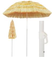 vidaXL Strandparasoll naturlig 180 cm Hawaii-stil