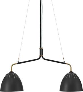 Örsjö Belysning - Lean Taklampe, Messing/Sort