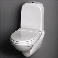 Gustavsberg Vägghängd Toalettstol 339 ROT