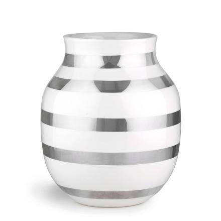 Kähler - Omaggio Vase Medium, Sølv