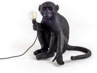 Seletti - Monkey Lamp udendørs siddende, Sort
