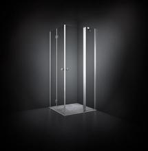 Dansani Match Dusjhjørne 90 x 100 cm, Klart glass/Satin profil - Model 5