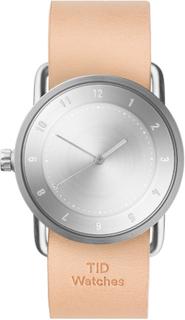 TID Watches - TID No.2 Armbåndsur 36 mm, Natural Skinnreim