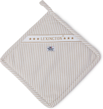 Lexington - Oxford Striped Grydelap, Beige