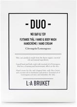 L:a Bruket - Duo Flytende Såpe & Håndkrem, Sitrongress