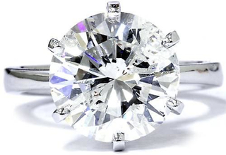 3 karat runde diamanter forbedret engasjement bryllup kabal 14K hvi...