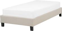 Sänky 90x200 cm beige ROANNE