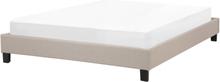 Sänky 140x200 cm beige ROANNE