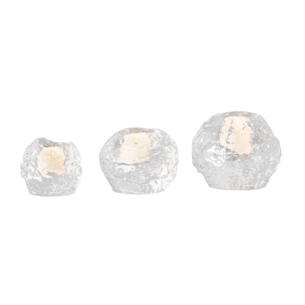 Kosta Boda - Snowball Fyrfadsstage 3-Pak, Krystal