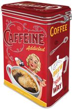 Kaffeburk med knäpplock Caffeine addicted