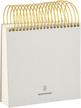 Monograph - Spiral notesbog 14x14cm, lysegrå