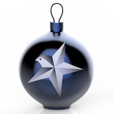 Alessi - Blue Christmas Ornament, Tre 1