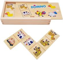 Houten Domino Boerderijdieren 28-delig