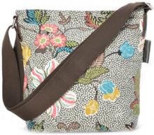 Ceannis - Flower Linen Small Shoulder Bag Taske, Grå