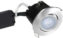 Nordtronic Master Uni Install 63 Rund Innbygningsspot utendørs med innebygget dimmer 5W/827 LED GU10, Børstet stål