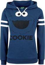 Sesam Stasjon - Krümelmonster - Cookie -Hettegenser - blå