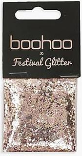 Boohoo Gold And Rose Glitter Bag