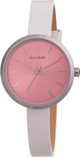 Pilgrim - Adia Armbåndsur, Sølv/Rosa