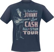 Johnny Cash - All Star Tour -T-skjorte - marineblå