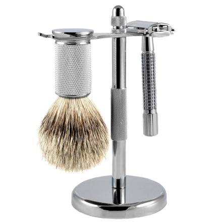 Silvertip Barbersæt på Stander med Grævlingehår - Trendhim