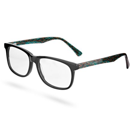Briller med Mønstret Svart Innfatning