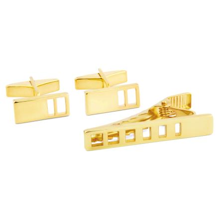 Kort 925s-Sæt i Guld med Huller - Trendhim