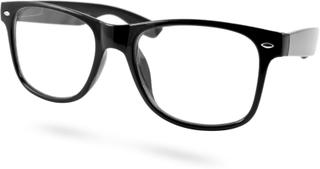 Svarta Retro Glasögon med klara glas (Small)