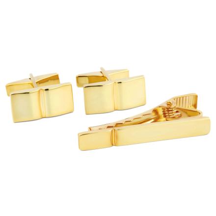 Kort 925s-Sæt i Guld med Enkelt Rille - Trendhim