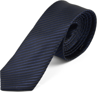 Mörkblå Randig Slips