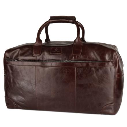 Jasper Weekendtaske i Mørkebrunt Læder