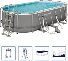 Bestway Power Steel pool oval 549 x 274 x 122 cm 56710