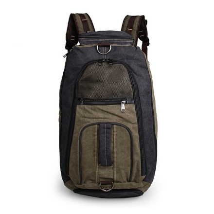 Multi-funktionel Blå Rejsetaske i Lærredstof - Trendhim