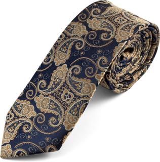 Blå Paisleymönstrad Slips
