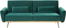 Sohva samettinen vihreä EINA