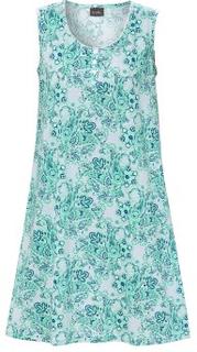 Trofe Cotton Modal Nightdress Blå Small Dame